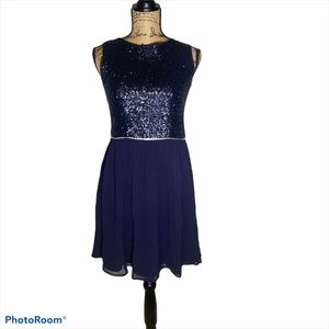Johnnie B Boden Blue sleeveless sequence dress